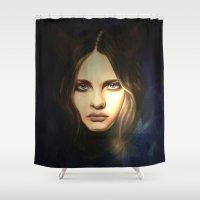 devil Shower Curtains featuring Devil by Pamela Schaefer