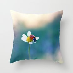 A Lady and A Daisy Throw Pillow