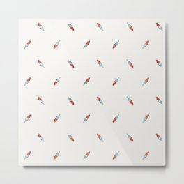 Summer Bomb Pop: Small Pattern Metal Print