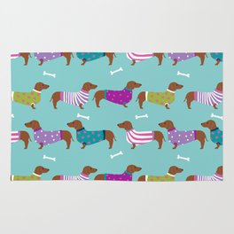 Dachshund sweaters cute gifts for dog lover pet friendly dog breed dachsie doxie dogs Rug