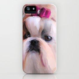 Little Girl Shih Tzu iPhone Case