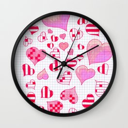 hearts school Wall Clock