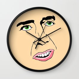 Nicolas Cage  's Face Wall Clock