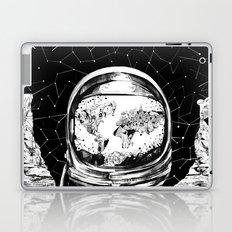 astronaut world map black and white 1 Laptop & iPad Skin
