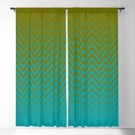 gradient chevron pattern aqua olive Blackout Curtain