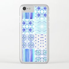 Amalfi Coast Tiles Clear iPhone Case
