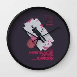 Investigation of a Citizen above Suspicion - Italian Masterpiece Movie Poster Wall Clock