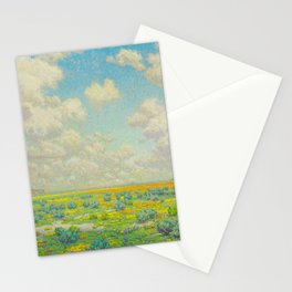 Granville Redmond Spring Antelope Valley Beautiful Landscape Painting Blue Sky Green Flower Filled F Stationery Cards