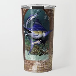 Awesome marlin Travel Mug