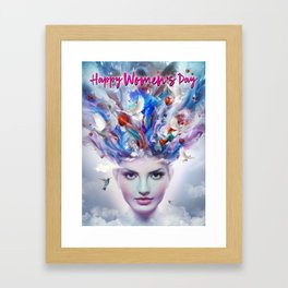 Happy Women's Day Framed Art Print