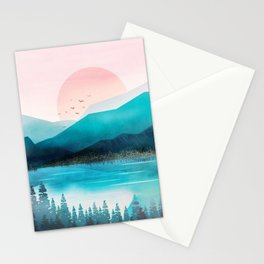 Morning Mountain Mist Stationery Cards