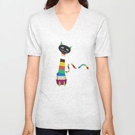 Gustavo Cat Unisex V-Neck