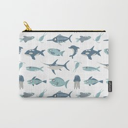Blue Caribbean Fishes Carry-All Pouch