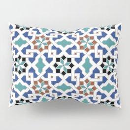 Geometric Pattern - Oriental Design Pt. 7x - seamless design ,blue, green Pillow Sham
