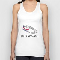 forrest gump Tank Tops featuring Run Forrest Run by andresbruno
