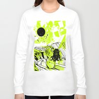 depression Long Sleeve T-shirts featuring Depression on a Lonely Planet by MAKE ME SOME ART