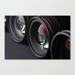 Photo lenses Canvas Print