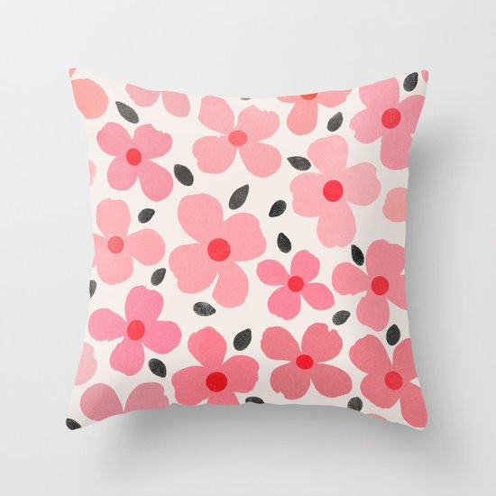 dogwood 8 Throw Pillow