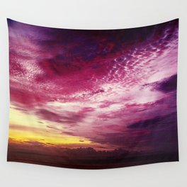 Red Sky Sunrise Wall Tapestry
