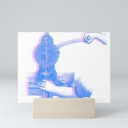 wine culture risograph effect Mini Art Print