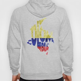 Colombia Typographic World Map / Colombia Typography Flag Map Art Hoody