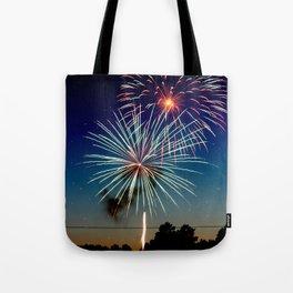 July 4th Fireworks Tote Bag