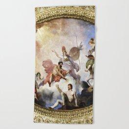 Fresco on Ceiling in Paris Beach Towel