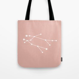 Gemini Zodiac Constellation - Pink Rose Tote Bag