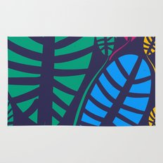 Jungle Night Pattern Floral Decoration Rug