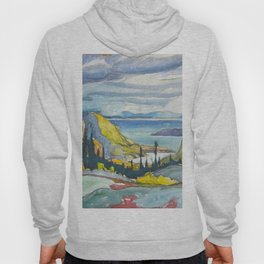 Canadian Landscape Watercolor Painting Franklin Carmichael Art Nouveau Hoody
