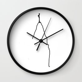 Obstacles Make Life Interesting Wall Clock