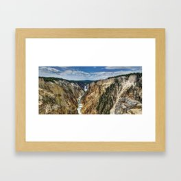 Grand Canyon of Yellowstone River and Lower Falls from Artist Point Framed Art Print