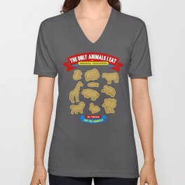 The Only Animals I Eat are Animal Crackers Unisex V-Neck