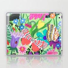 Butterfly and Moths Pattern - Green Laptop & iPad Skin