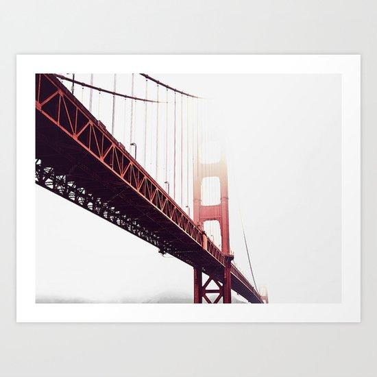 bridge with color Art Print