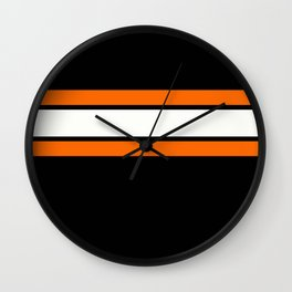 TEAM COLORS 2...Orange Wall Clock