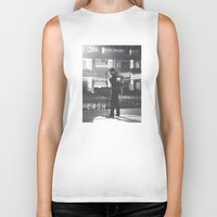 johnny cash Biker Tanks featuring Johnny Cash by Earl of Grey