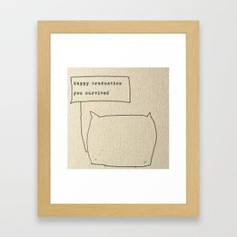 Happy graduation Framed Art Print