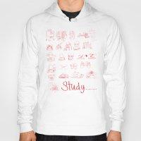 study Hoodies featuring Study... by David Nuh Omar