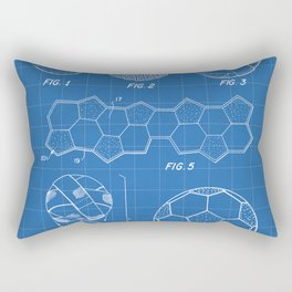 Soccer Ball Patent - Football Art - Blueprint Rectangular Pillow
