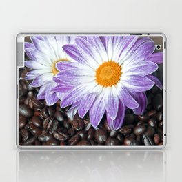 COFFEE with VIOLET DAISY Laptop & iPad Skin