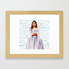 Let Me Be a Part of the Narrative Framed Art Print
