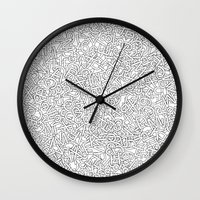 helvetica Wall Clocks featuring Helvetica Jumble by SpareType