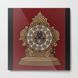 Old Clock Time Timeless Time Indicator Metal Print