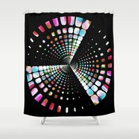 balance Shower Curtains featuring Balance by MehrFarbeimLeben