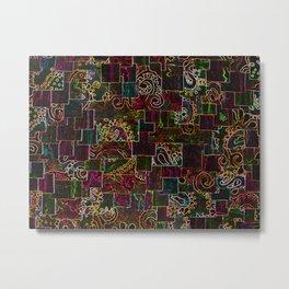 Batik Mosaic Fractal Mixed Metal Print
