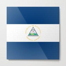 Nicaragua flag Metal Print