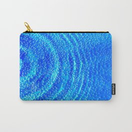 Blue Rippling Water Air Bubbles Carry-All Pouch