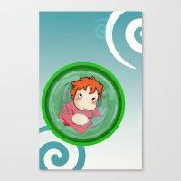 ponyo Canvas Prints featuring Ponyo  by SamIAmTheSam