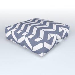 WEFT - periwinkle chevron Outdoor Floor Cushion